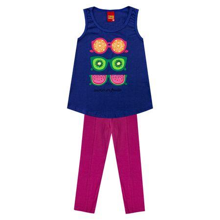 b3978ac0c33a45 Conjunto Infantil Feminino Blusa + Legging Kyly 133616.6755.8