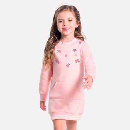 c7c711475a1 Vestido Infantil Milon Moletom