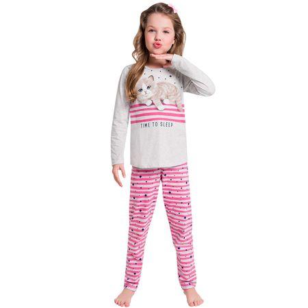dfc50615d Pijama Infantil Feminino Blusa + Calça Kyly - Universok