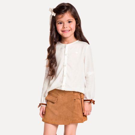 68762310cf Conjunto Infantil Feminino Blusa + Short-Saia Milon 11415.0001.4