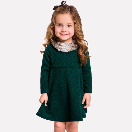 8a7c74a1e6 Vestido Infantil Feminino Milon Jacquard 11368.0452.3