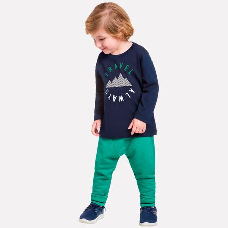 7d9a0d72d8 Conjunto Infantil Masculino Camiseta + Calça Milon 11437.0001.1