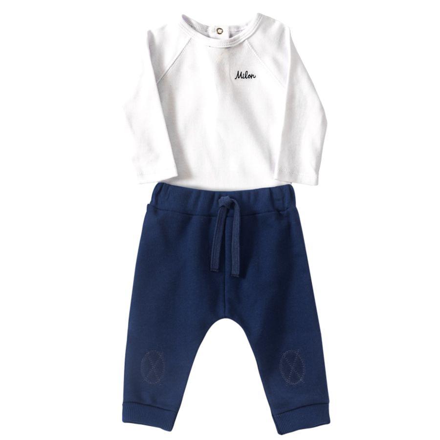 a5a1fe2ec7a90 Conjunto bebê menino em suedine - M4482.6783.3