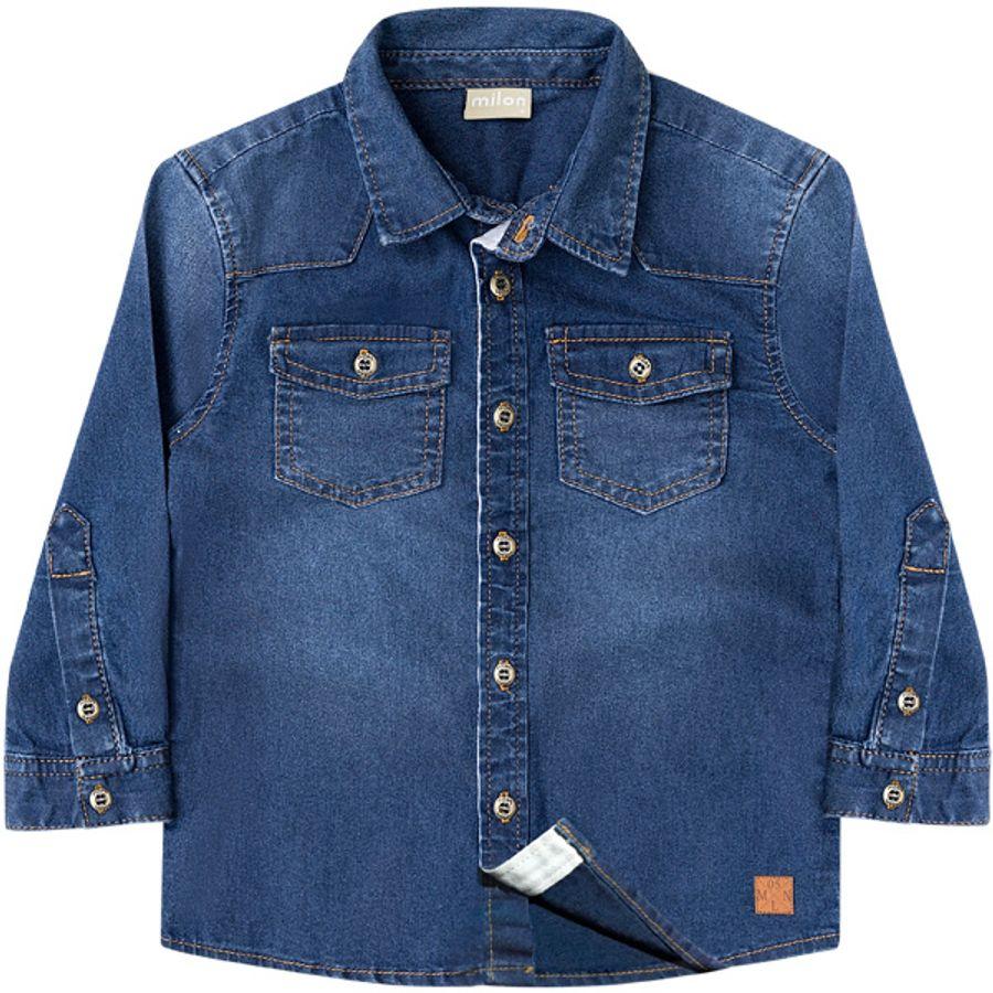 a316fcb7dc Camisa jeans infantil menino. 10243 Jeans camisa  10243 Jeans camisa