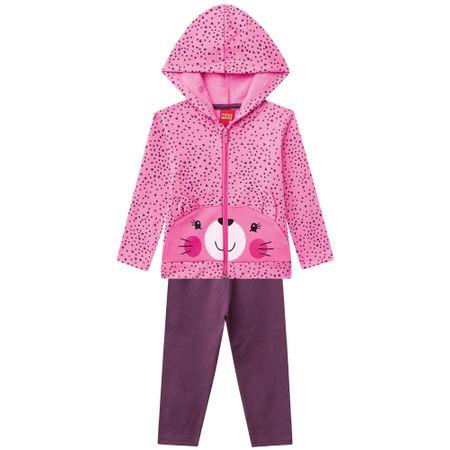 148eb1fae Conjunto Infantil Feminino Blusa + Calça Kyly - 206628.40009.1