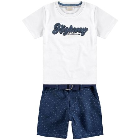 Conjunto Infantil Masculino Camiseta + Bermuda Milon fcca616e6c8