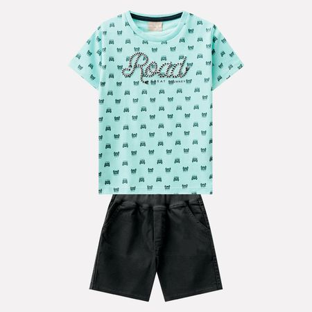Conjunto Infantil Masculino Camiseta + Bermuda Milon b0cd18861ec
