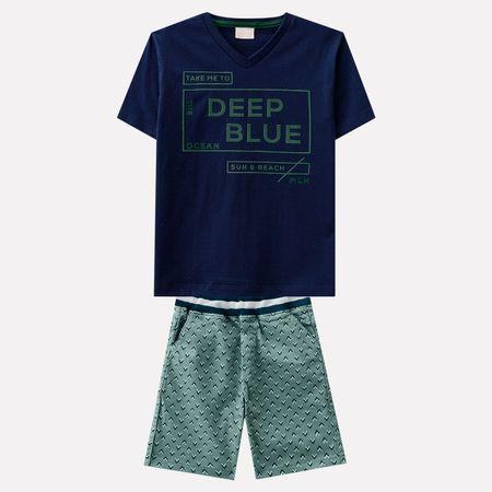 Conjunto Infantil Masculino Camiseta + Bermuda Milon 5592d000e06e9