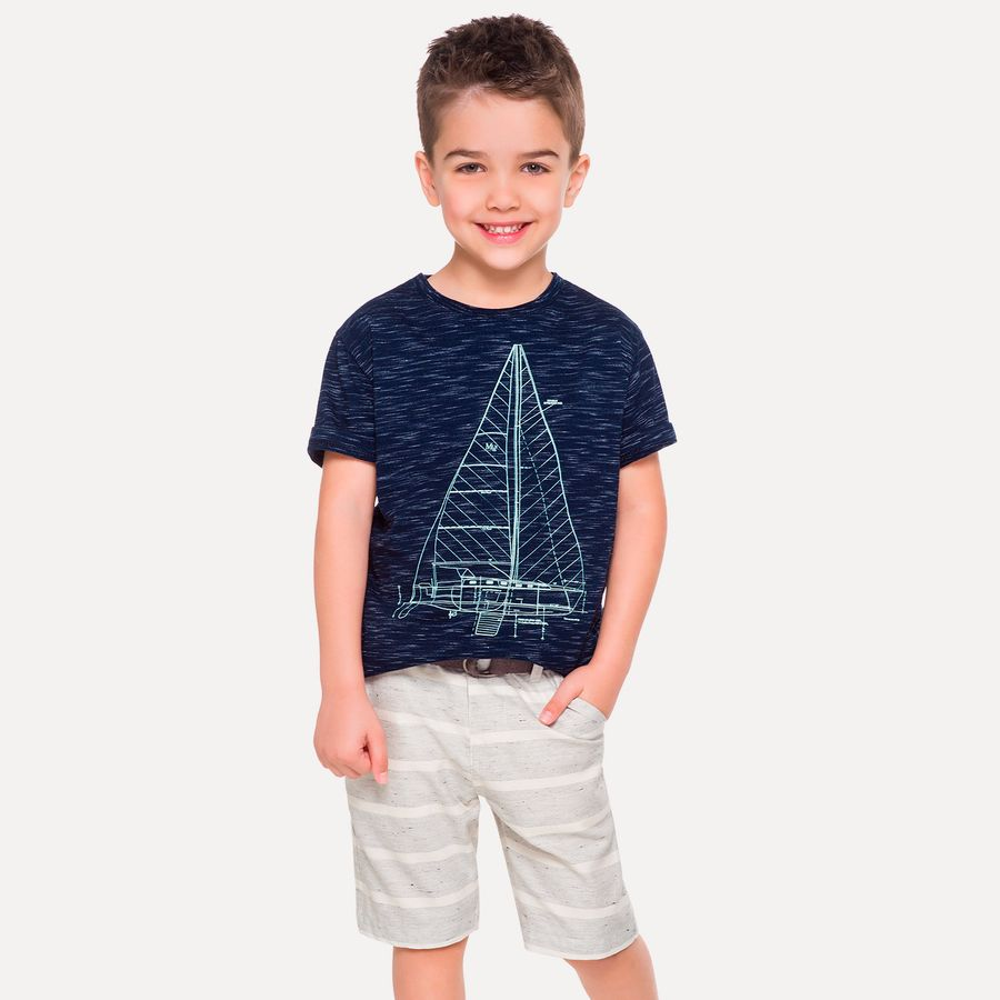 e18a358559b798 Bermuda Infantil Masculina Milon Sarja - Milon