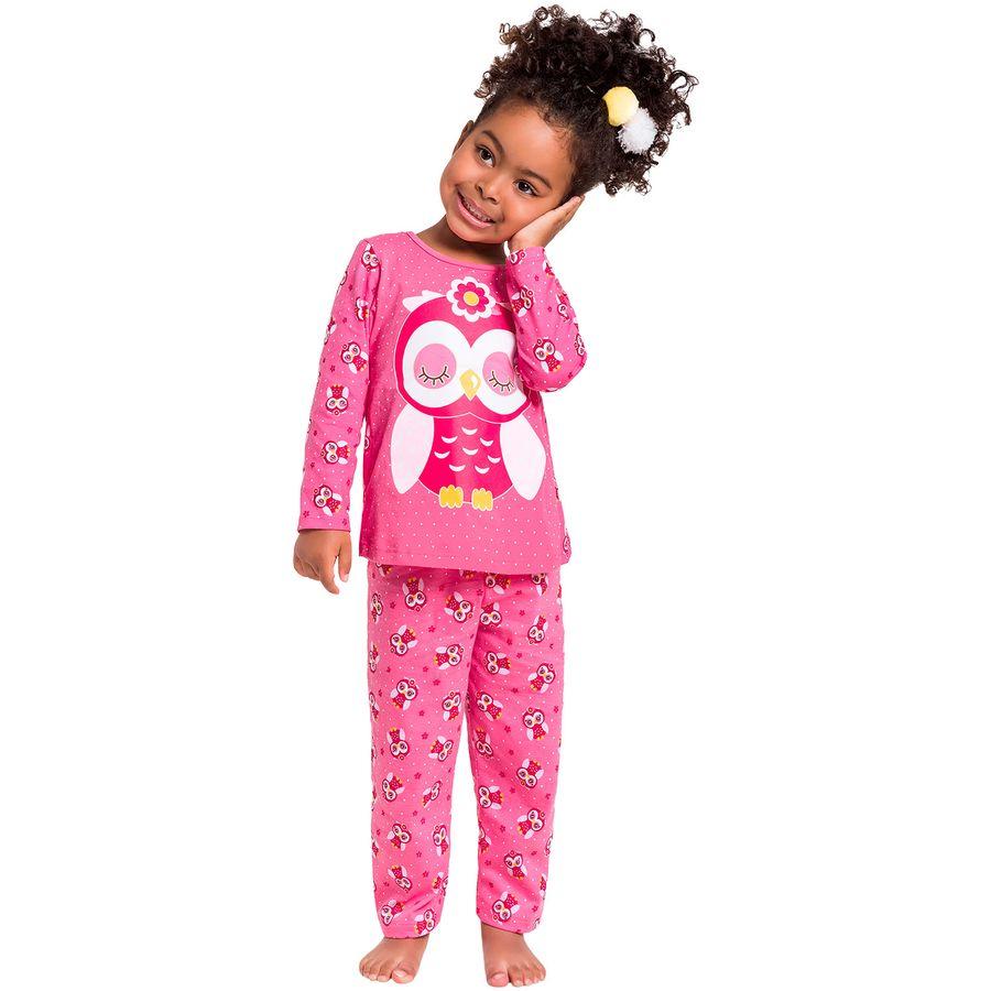 4214578fa Pijama Infantil Feminino Blusa + Calça Kyly - Kyly