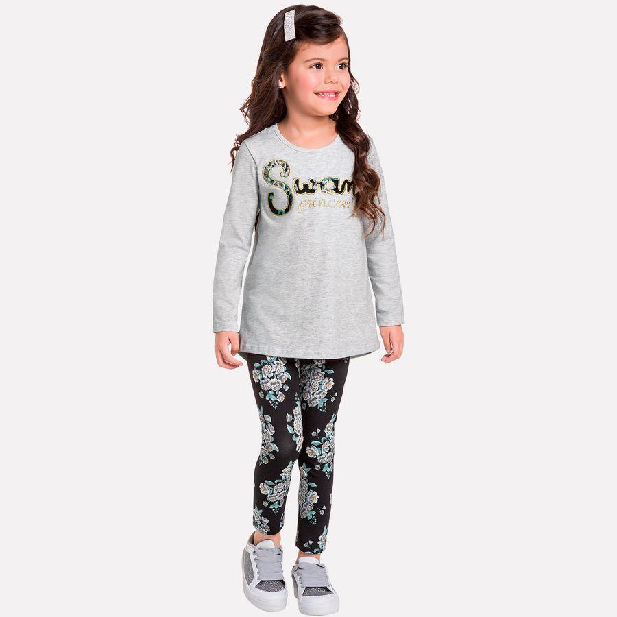 fe5d4cd6d403 Conjunto Infantil Feminino Blusa + Legging Milon - Milon