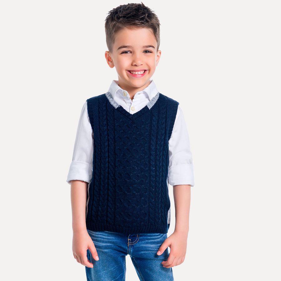 2ddaca410 Colete Infantil Masculino Milon Tricot - Milon