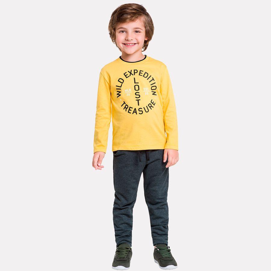 Conjunto Infantil Masculino Camiseta + Calça Milon - Milon df0c9ac0120