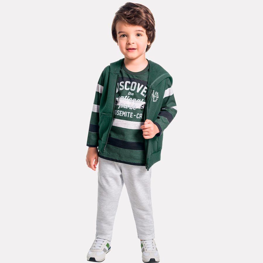 Conjunto Infantil Masculino Camiseta + Calça + Colete Milon. Previous 07a0986de6f