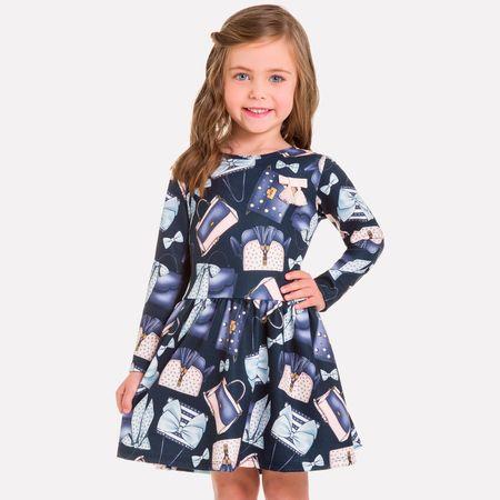 18ebe0021f6ac Vestido Infantil Milon Interlock