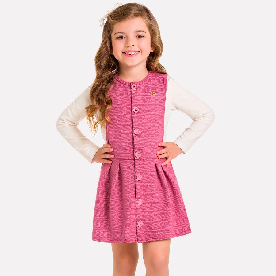 0b73955786 Conjunto Infantil Feminino Salopete + Blusa Milon - Milon