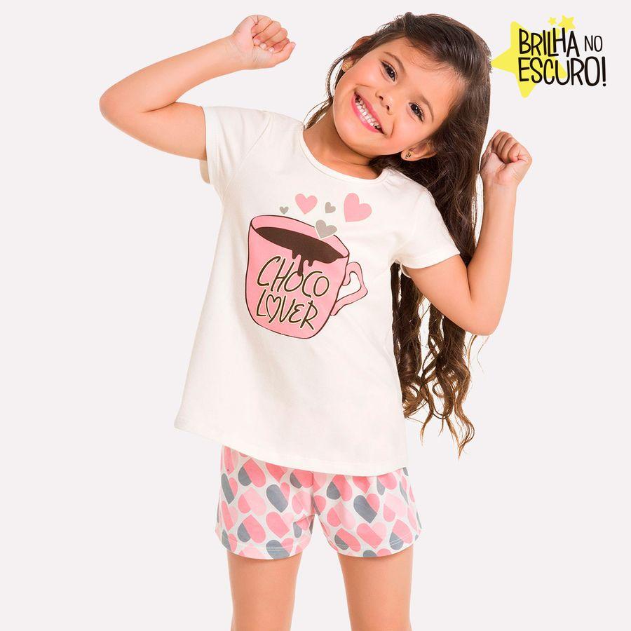 af51608e7a8ecb Pijama Infantil Feminino Blusa + Short Milon - Milon